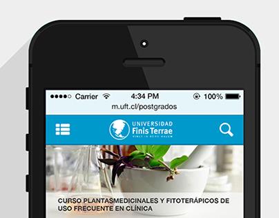 Universidad Finis Terrae - UI/UX propuesta Web Mobile
