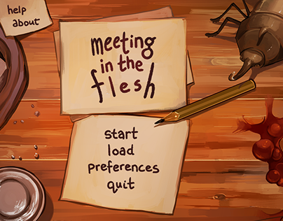 Meeting in the Flesh Character Designs/UI
