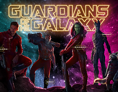 Guardians of the Galaxy Website Concept