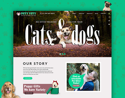 Petvet Animal & Pet Care Hospital Web Template