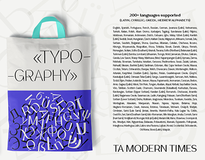 TA Modern Times   TYPEFACE