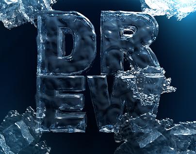 Ice Typography Drew Tree / Лед Типографика / Ice Logo
