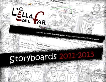 """StoryBoards para L´Illa del Far"""" Serie TV."""