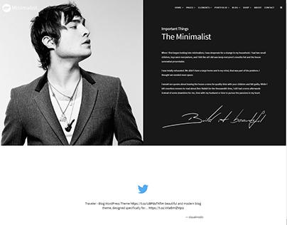 About Me - Minimalist WordPress Theme