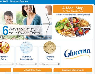 Glucerna Landing Page Art Direction & Graphic Design