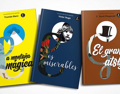 Colección de portadas de novelas