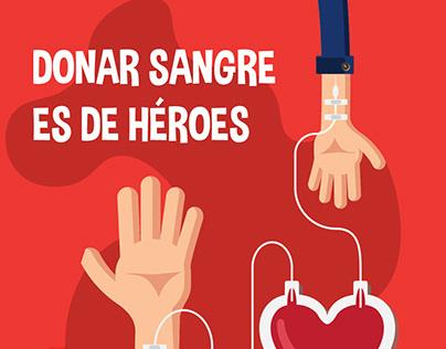 Diseño gráfico y contenido - Fundación Sangre Panamá