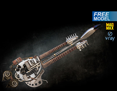Free 3d model The Doof Warrior's Guitar