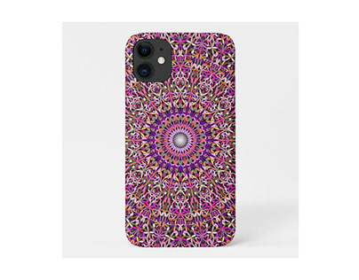 Colorful Girly Lace Garden Mandala Phone Case