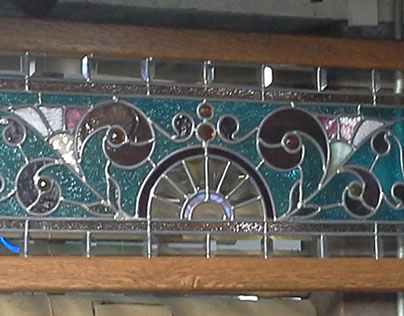 Antique Stained Glass leaded panel Restoration 2