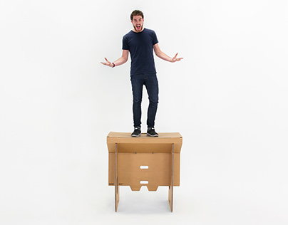 Cardboard standing desk | Refold