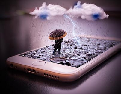 Rainfall in iPhone