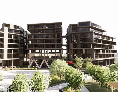 Mosaico de vivienda. Proyecto Habitar. Ej 3 & 4