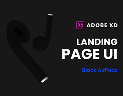 Black AirPods Landing Page