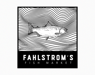fahlstrom's fish market // branding and design
