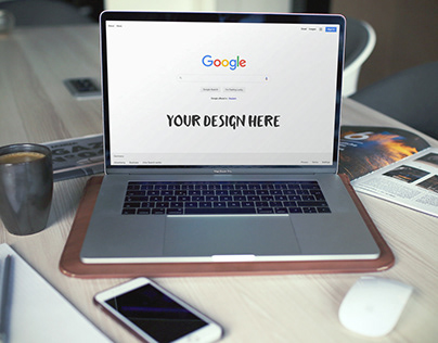 Free MacBook Pro Website Mockup