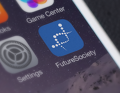 Roche Future Society app logo and look and feel