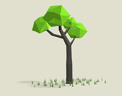 Low-Poly-Tree Animation