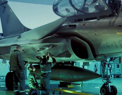 Tournage Film Armée de l'air Rafale