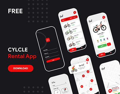 Cycle Rental App Ui UX Freebie