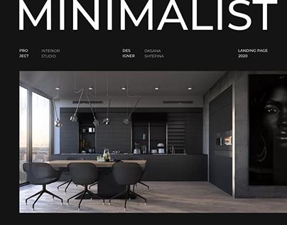Minimalist Design Studio - landing page