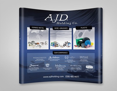 A.J.D. Large-Scale Tradeshow Booth Graphics