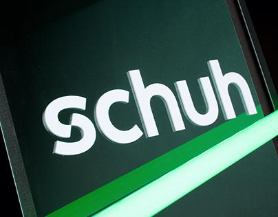 schuh – rebrand of UK shoe retailer