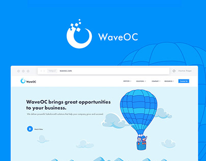WaveOC Corporate Website Redesign