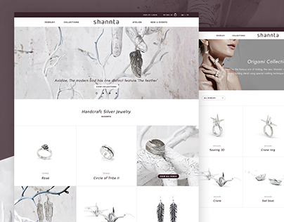 Shannta Handcraft Silver Jewelry | Web concept