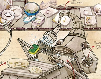 The Elephant Dishwasher - Infographic Poster
