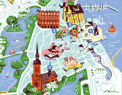 Map of Stralsund city – For agenda Magazine