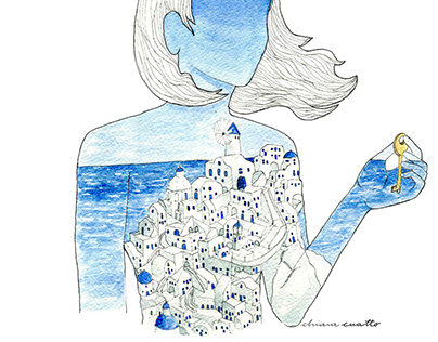 Watercolor | Lines | Conceptual Illustrations