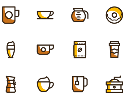 Freebie - 20 coffee vector icons