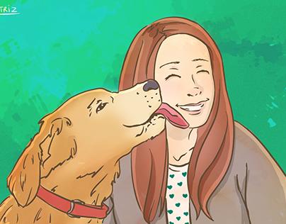 Ilustração Carol e Jake