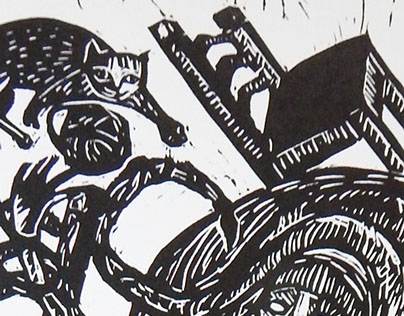 Lino cut illustrations