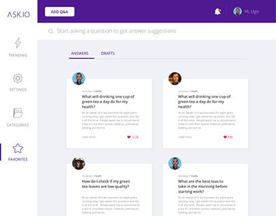 Q&A Web app UI