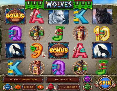 "Online slot machine – ""Wolves"""