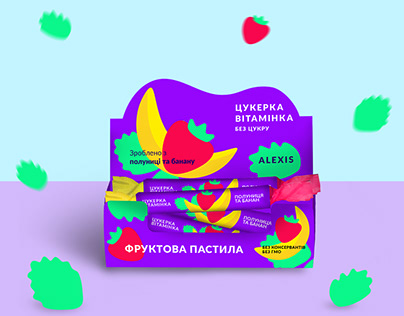 Package design series for candies.