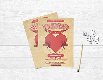 Valentines Day Event Flyer Design