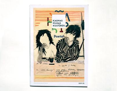 Cover art for Kaunas Pilnas Kultūros magazine