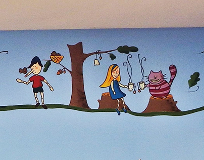 School library mural painting.