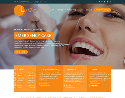 Lumia Dental Care website design