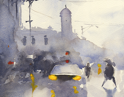 Intro to Watercolor: Student work 2015
