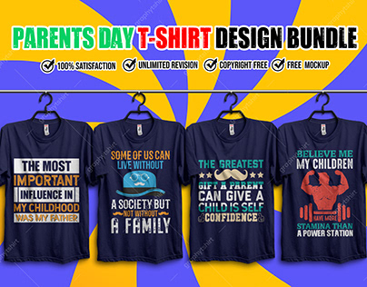 Parents Day T-Shirt Design Bundle