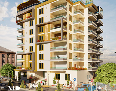 MODERN Residential Building Elevation