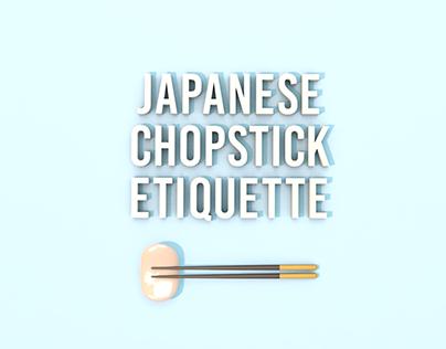 Japanese Chopstick Etiquette