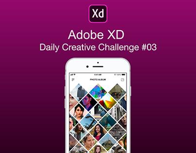 Adobe XD Daily Creative Challenge #03
