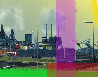Steel Mill IJmuiden Holland