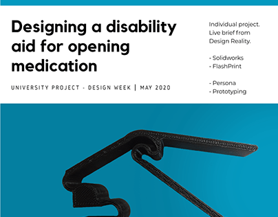 Designing a disability aid for opening medication