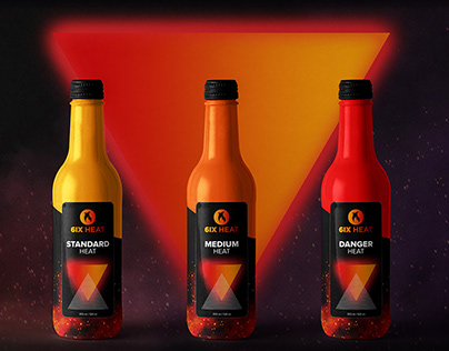 6ix Heat Hot Sauce Branding Project